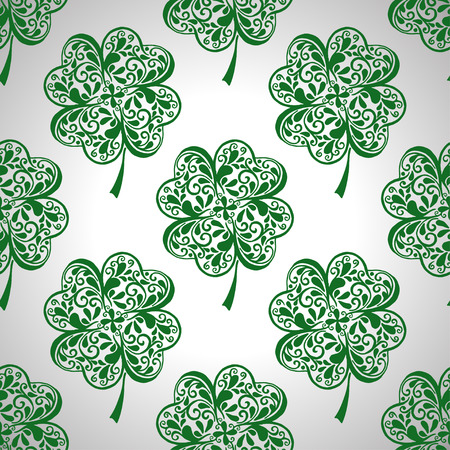 Saint Patrick Day seamless background with clover.