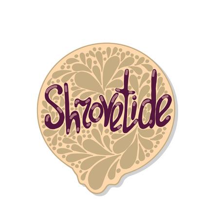 Greeting Shrovetide card. Vector illustration