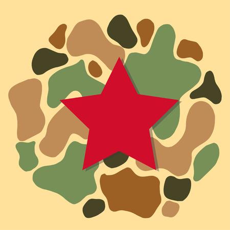 Camouflage hakki abstract green background. Vector illustration Illustration