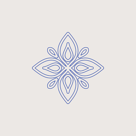 Arabic vintage decorative design element. Vector illustration