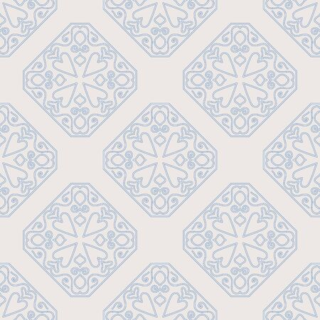 Arabic vintage decorative design seamless pattern. Vector illustration