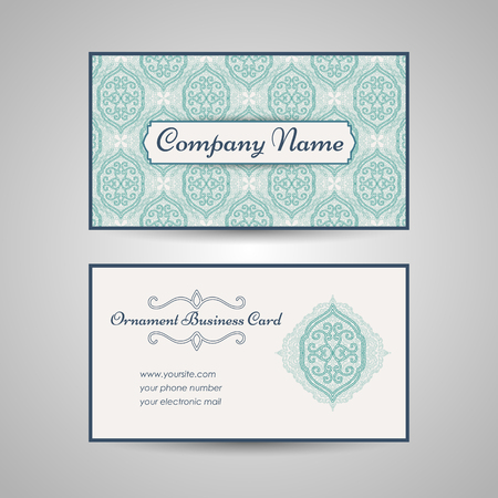 Arabic style business card template Stockfoto