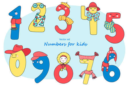 Bright, fun numbers for teaching children to count.