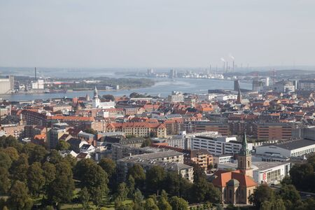 Photograph taken from the top of the Aalborg tower in Denmark.