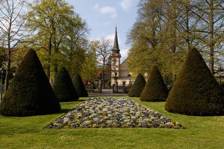 garten: Celle, Germany: Photograph of a flower bed in the French garden - Franzoesischer Garten.