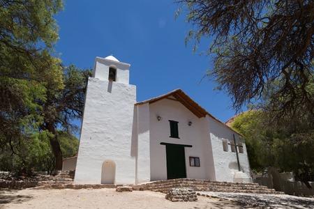 siete: Purmamarca, Argentina - November 8, 2015: Small church at the main plaza of the village.