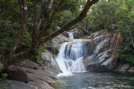 rocks water: Photograph of the Josephine Falls in Queensland, Australia.