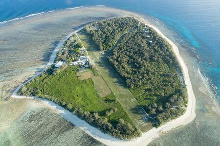 Aerial view of Lady Elliot Island in Queensland, Australia. Foto de archivo