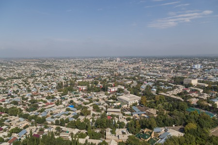 Skyline of the Kyrgyz city Osh as seen from the Sulaiman Mountain.
