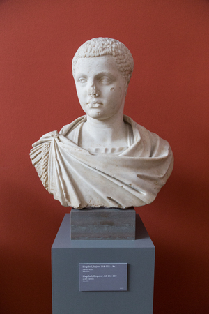 carlsberg: Copenhagen, Denmark - February 16, 2016: Sculpture of the Roman emperor Elagabal  in the New Carlsberg Glyptotek. Editorial