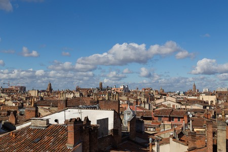 Photograph of the rooftops of the French cityToulouse.