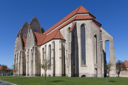 expressionism: Copenhagen, Denmark - April 11, 2016: Exterior photograph of Grundtvigs Church Editorial
