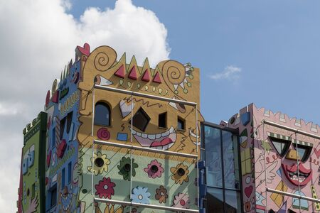 abstractly: Braunschweig, Germany - August 23, 2014: The Happy Rizzi House by James Rizzi Editorial