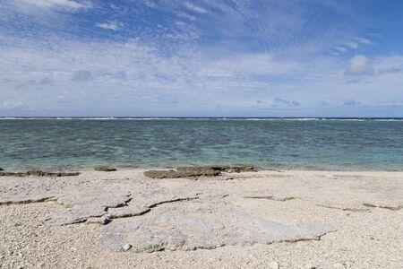 elliot: A beach with corals on Lady Elliot Island in Queensland, Australia