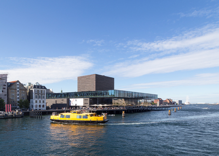 playhouse: Copenhagen, Denmark - August 17, 2016: View of the harbor with the playhouse