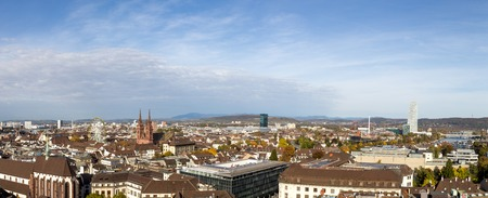 Basel, Switzerland - October 24, 2016: Panoramic view of the city