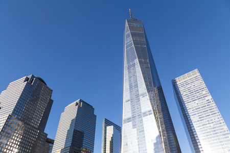 View of the World Trade Center in Lower Manhattan in New York City