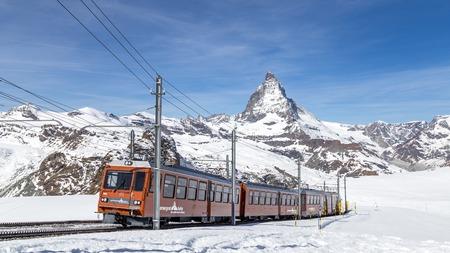 Gornergrat Train in front of Matterhorn
