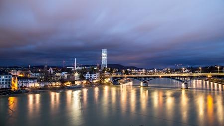 Panoramic view of Basel, Switzerland Foto de archivo