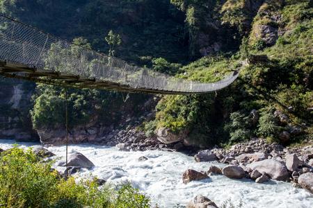 Nepalese suspension bridge