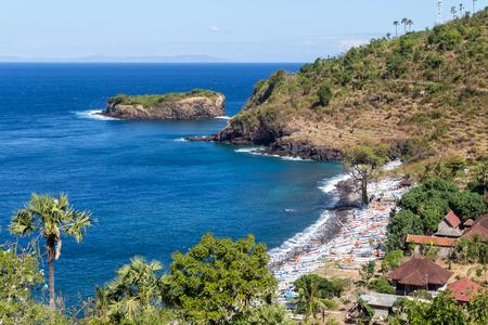 Beautiful Bay on Bali Stock Photo