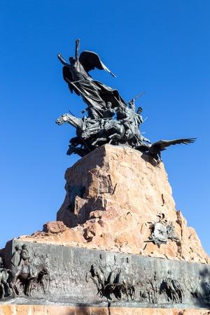 gloria: Cerro de la Gloria in Mendoza, Argentina Editorial