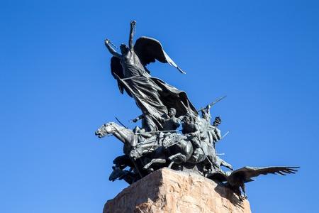 Cerro de la Gloria in Mendoza, Argentina Stock Photo