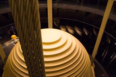 damper: Damper ball inside Taipei 101 in Taiwan