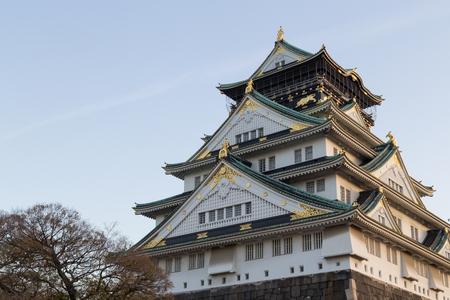 Historical Japanese castle in Osaka, Japan