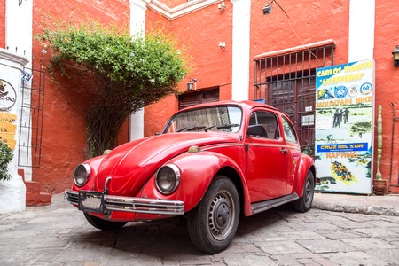 Old Volkswagen Kaefer Editorial