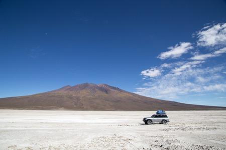 Salar de Uyuni in Bolivia Stock Photo