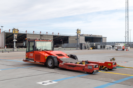 Airport pushback truck Editorial