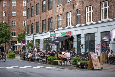 Norrebro district in Copenhagen
