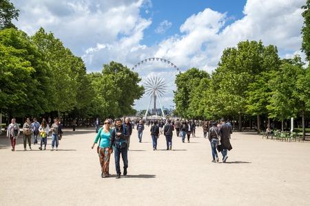 Big Ferris Wheel in Paris Editorial