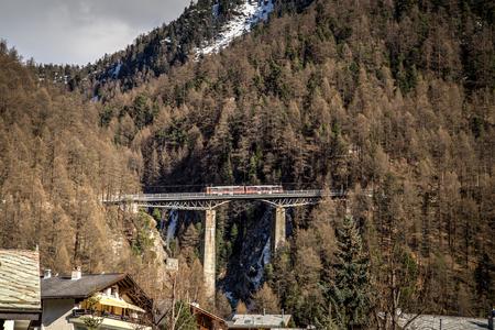 Train Bridge in Zermatt, Switzerland