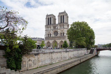 Notre-Dame Cathedral in Paris Editorial