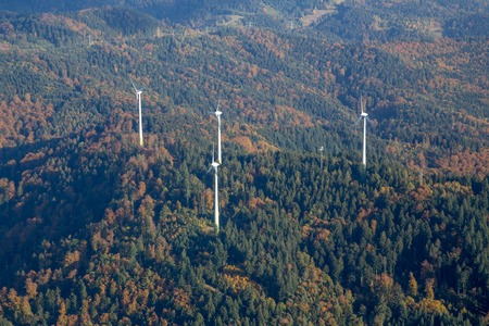 Wind Power Plants on a hill