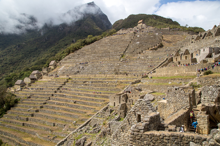 Machu Picchu in Peru Editorial
