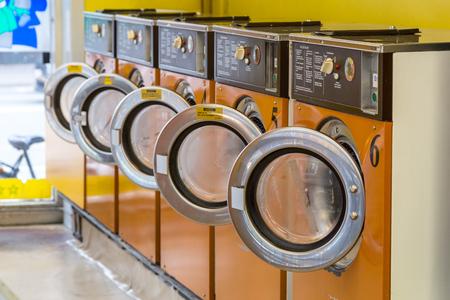 Laundry Washing machines Stock Photo
