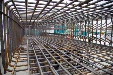 Steel Reinforcement Cage Stock Photo
