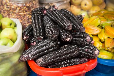 Black corn cobs Stock Photo