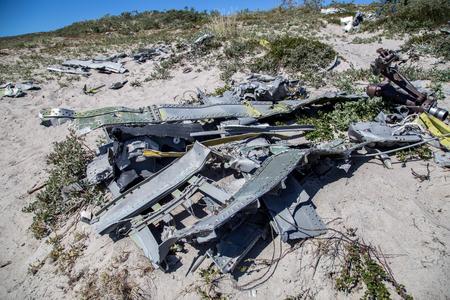 Aircraft wreck in Kangerlussuaq, Greenland Stock Photo