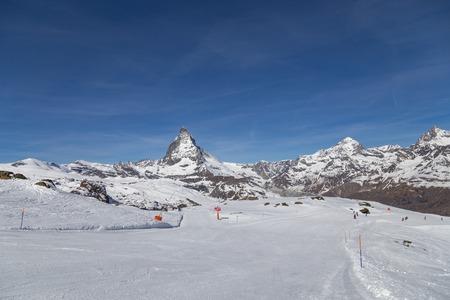 Matterhorn Skiing Area Stock Photo
