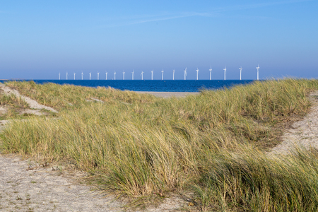 Offshore wind power plants and sand dunes
