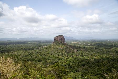 Lion Rock in Sigiriya, Sri Lanka Stock Photo