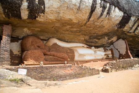 Reclining Buddha Statue at Piduranagala Rock