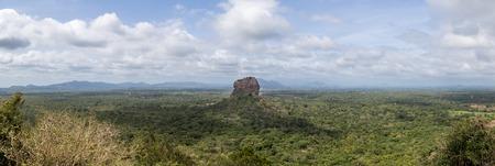 Panoramic view of the Lion Rock in Sigiriya, Sri Lanka