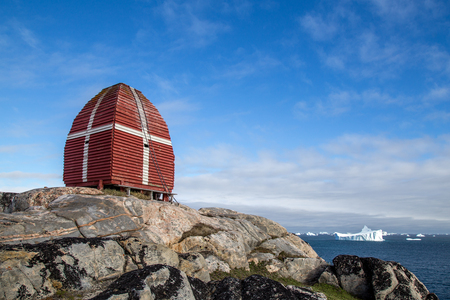 Whale watching tower in Qeqertarsuaq, Greenland