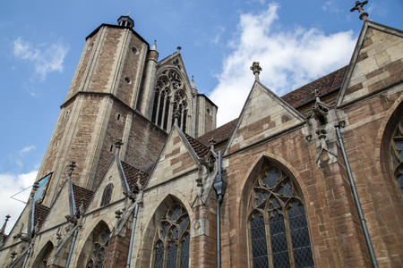 Braunschweig, Germany - August 23, 2014: Exterior view of Brunswick Cathedral in the historic city centre.