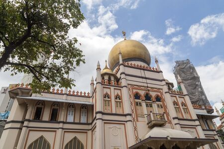 Singapore, Singapore - January 31, 2015: Sultan Mosque in Arab Street district.